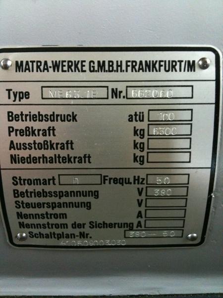 Fabrikat: Matra - Typ: Me 8,3.1 E