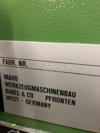 Fabrikat: Maho - Typ: MH 600 C